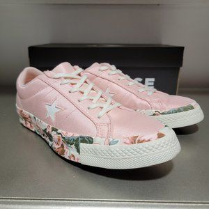 Converse One Star Pink Floral Womens Sneaker NWT